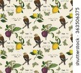 Hand Drawn Botanical Pattern I...