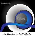 background vector line curve... | Shutterstock .eps vector #363507836