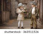 friendly romantic encounter... | Shutterstock . vector #363511526