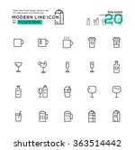 outline icon set of drink icon. ...