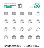 outline icon set of shopping...