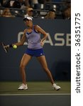 Small photo of NEW YORK - AUGUST 31: Daniela Hantuchova of Slovakia returns a shot during 1st round match against Meghann Shaughnessy of USA at US Open on August 31, 2009 in New York