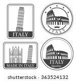 italy. rubber and stamp   Shutterstock .eps vector #363524132