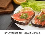 Sandwich With Salmon For...