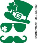 irish king with glasses... | Shutterstock .eps vector #363530702