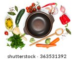 top view of open pan  fresh... | Shutterstock . vector #363531392