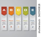 design clean number banners... | Shutterstock .eps vector #363540818