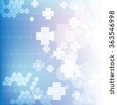 abstract medical blue light... | Shutterstock .eps vector #363546998