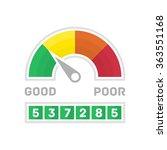 credit score gauge. vector... | Shutterstock .eps vector #363551168