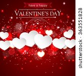happy valentines day background ... | Shutterstock .eps vector #363551828