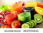 glasses of fresh organic... | Shutterstock . vector #363554642
