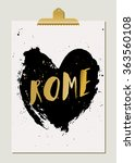 modern and stylish rome poster...   Shutterstock .eps vector #363560108