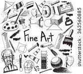 fine art equipment and...   Shutterstock .eps vector #363560885