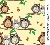 owl seamless pattern.... | Shutterstock .eps vector #363562946