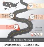 timeline infographics template... | Shutterstock .eps vector #363564452