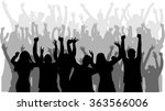 dancing people silhouettes. | Shutterstock .eps vector #363566006