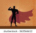 super hero retro american... | Shutterstock .eps vector #363566612