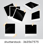 photo frames set glued to the... | Shutterstock .eps vector #363567575