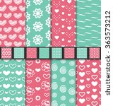 illustration set of love and... | Shutterstock .eps vector #363573212