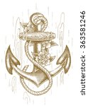 Sea Anchor With Rope And...