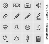 vector line medical icon set. | Shutterstock .eps vector #363594716