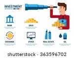 investment infographics.... | Shutterstock .eps vector #363596702