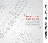 vector technical blueprint of ... | Shutterstock .eps vector #363598895
