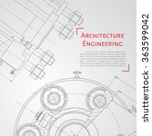 vector technical blueprint of ... | Shutterstock .eps vector #363599042