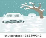 cold spell concept. blizzard... | Shutterstock .eps vector #363599342