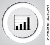 chart bars icon. internet... | Shutterstock . vector #363602996