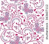 pink seamless decorative... | Shutterstock .eps vector #363607112