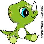 baby triceratops dinosaur... | Shutterstock .eps vector #3636106