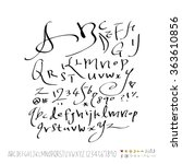 alphabet   number   hand drawn...   Shutterstock .eps vector #363610856
