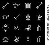 vector line farming icon set. | Shutterstock .eps vector #363615758