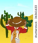 vector image of a mexican on... | Shutterstock .eps vector #36361633