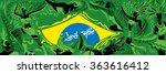 brazil abstract flag  brazilian ... | Shutterstock .eps vector #363616412