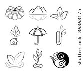 nature icons | Shutterstock .eps vector #36363175