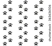 footprints of the animal  the... | Shutterstock .eps vector #363636506