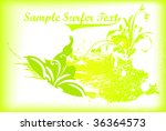 surfer summer vector background | Shutterstock .eps vector #36364573