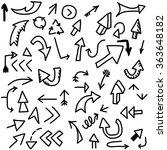 arrow doodles icon.vector... | Shutterstock .eps vector #363648182