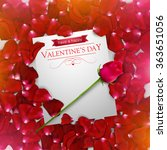 valentines day background with... | Shutterstock .eps vector #363651056