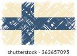 finnish grunge flag. raster... | Shutterstock . vector #363657095
