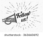 follow us vintage banner for...