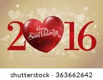 happy valentine's day lettering ... | Shutterstock .eps vector #363662642