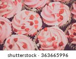 Pink Cupcake With Vintage...