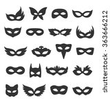 set collection of black... | Shutterstock .eps vector #363666212