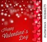 happy valentines day card. love ... | Shutterstock .eps vector #363666275