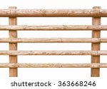 Wooden Fence Isolated Over...