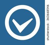 tick icon icon  vector... | Shutterstock .eps vector #363668546