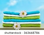 pile of colorful clean towels. | Shutterstock . vector #363668786